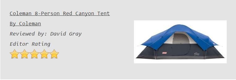 Coleman Red Canyon Tent Review