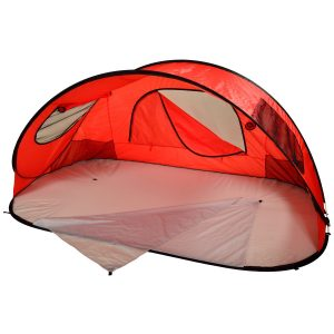 Picnic at Ascot Extra Large Instant Easy Beach Tent Sun Shelter – Red