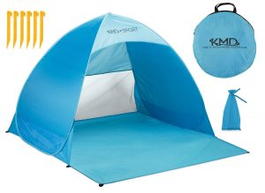 KMD SPORT - Beach Pop Up Tent - Lightweight Portable Cabana for Privacy & Shade