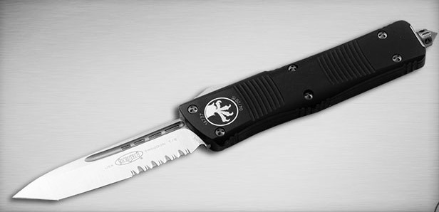 Microtech Black Silver Vented