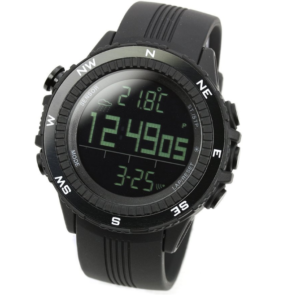 Lad Weather: German Sensor Digital Compass Altimeter Barometer Chronograph Alarm Weather Forecast Outdoor Sports Wrist Watches