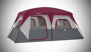 COLUMBIA 8 Person Dome Tent, Red/Grey