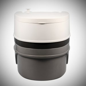 Camco 41545 Travel Toilet, 5.3 gallon