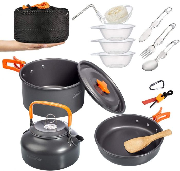 Overmont Camping Cookware Set