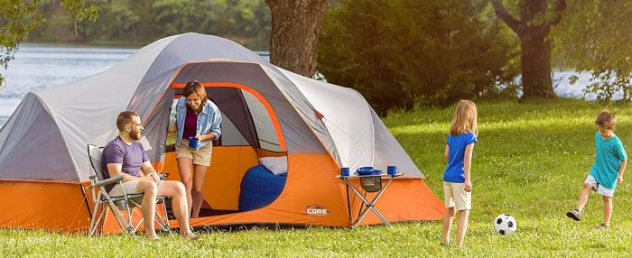 tents with hinged door